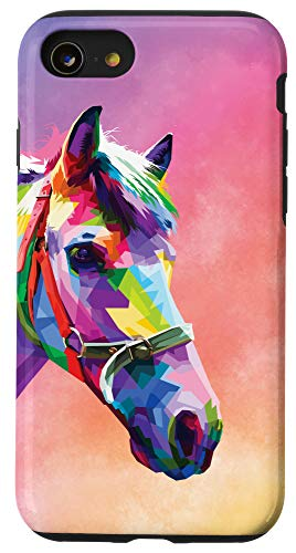iPhone SE (2020) / 7 / 8 Horse Case Watercolor Cute Horses Lover Girl Women Mom Gift Case