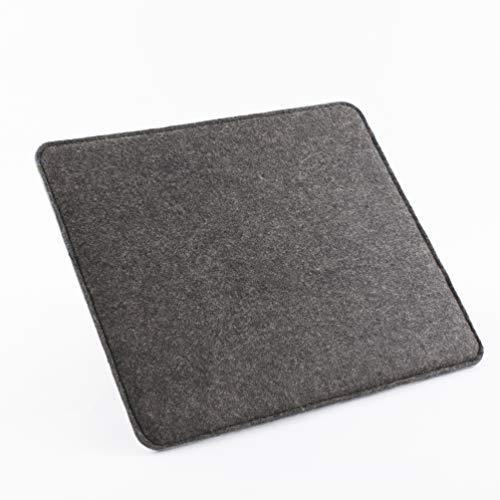 Mousepad Filz von Stil-Macher   PREMIUM VEGAN Filz   zweilagig und rutschfester Unterseite   Mauspad   22x25x1cm (LxBxH)