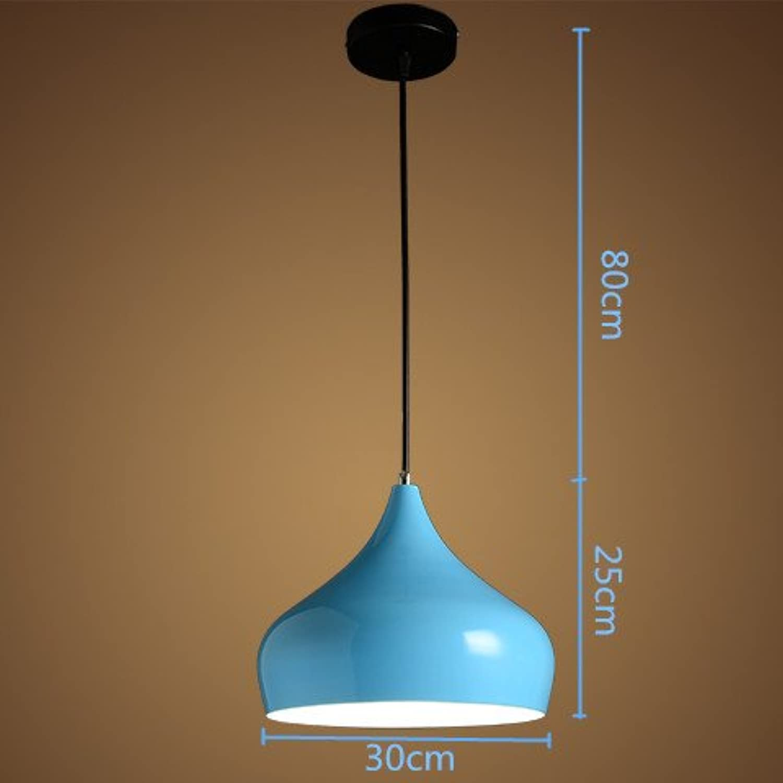 Luckyfree Kreative Modern Fashion Anhnger Leuchten Deckenleuchte Kronleuchter Schlafzimmer Wohnzimmer Küche, 30 Cm +7 W warmes Licht Blau