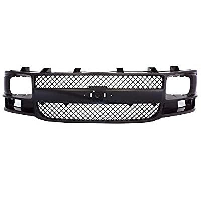 Perfit Liner New Replacement Parts Front Gray Grille Compatible With CHEVROLET 03-17 E Series Express 1500 2500 3500 Van Fits GM1200538 25746055