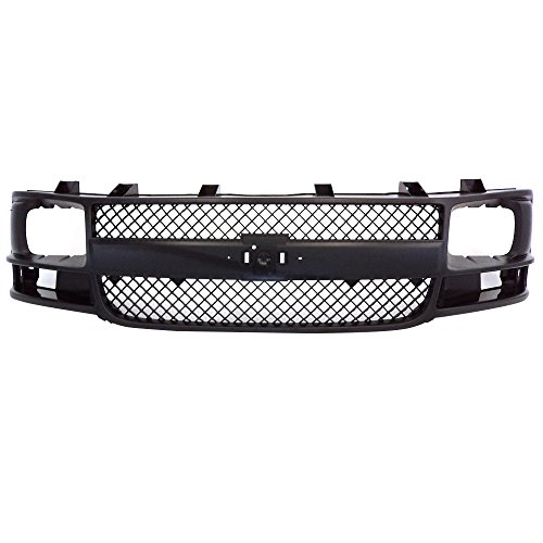 Perfit Liner New Front Gray Grille Grill Replacement For 03-17 E Series Express 1500 2500 3500 Van Fits GM1200538 25746055