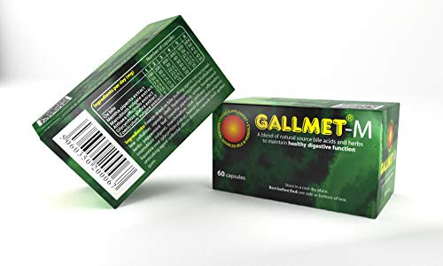 GALLMET-M/60 Bile acids (100 mg/Capsule) and Herbs Capsules to Maintain Healthy Digestive Function