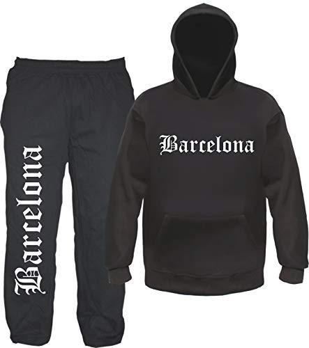 sostex Barcelona Jogginganzug - Altdeutsch - Jogginghose und Hoodie 2XL Schwarz