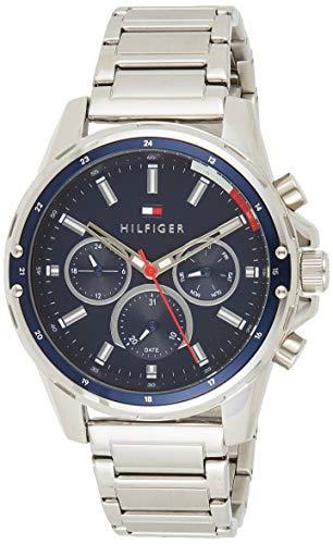 Tommy Hilfiger Reloj Analógico para Hombre de Cuarzo con Correa en Acero Inoxidable 01791788
