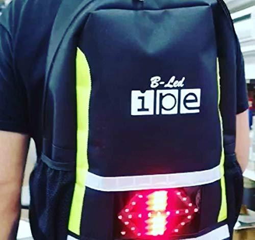 IPE Mochila con Luces led B-LED M Mod.6 Intermitentes y luz de posicion Dia/Noche Profesional