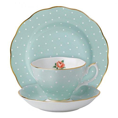 Royal Albert New Country Roses Tasse à thé, Soucoupe et Assiette 3 pièces