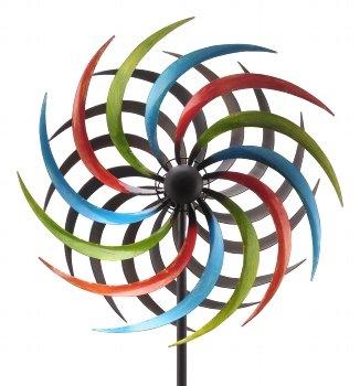 E-X WINDRAD °Art Ferro ° Sonne ° Metall° Windspiel° GARTENSTECKER° H 185 cm° D 48 cm