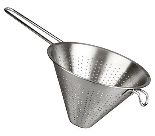 Arce - Colador Chino de Cocina - Diámetro 24 cm - Acero Inoxidable - Plata