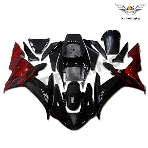 NT FAIRING Red Black Injection Mold Fairing Fit for Yamaha 2002 2003 YZF R1 R1000 YZF-R1 New Painted Kit ABS Plastic Motorcycle Bodywork Aftermarket