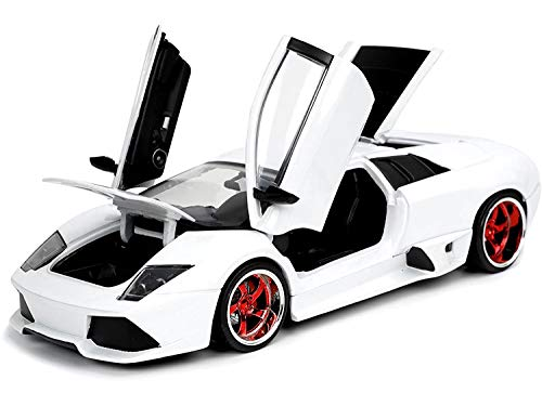 Jada Toys Hyperspec 1:24 Lamborghini Murciélago LP460 Die-cast Car Pearl White, Toys for Kids and Adults