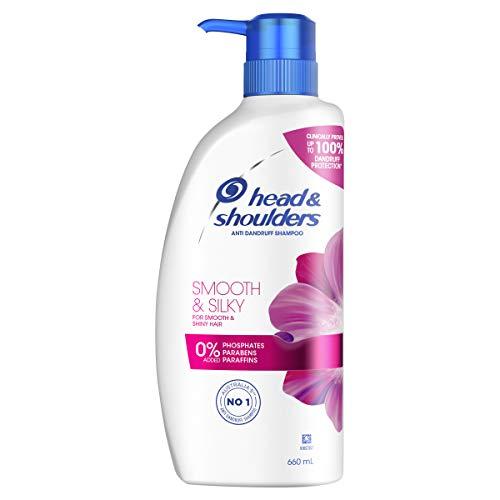 Head & Shoulders Smooth & Silky Anti Dandruff Shampoo For Smooth & Silky Hair, 660ml