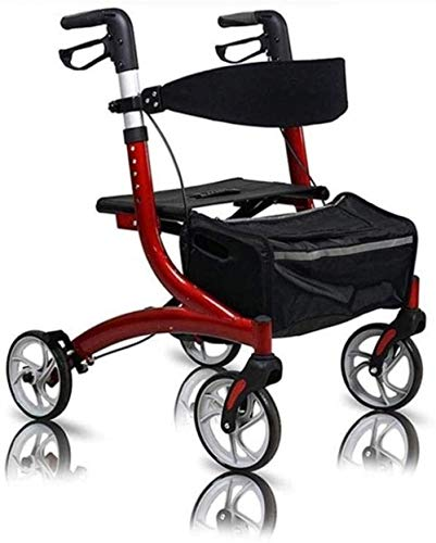 Walking Frame Walker with Seat and Wheels Height Adjustable Rolling Walker for Seniors Elderly Disabled