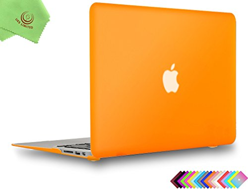 UESWILL Smooth Touch Matte Hard Shell Case Cover for MacBook Air 11 inch (Model A1370/A1465) + Microfibre Cleaning Cloth, Orange