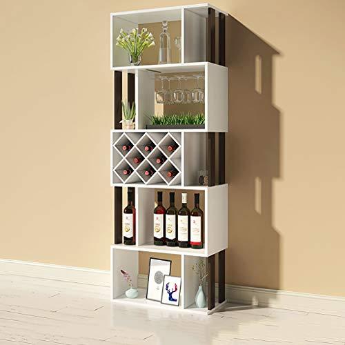 FPigSHS Porta Bottiglie da Vino Cantinetta per Vini Vetrinetta Vetrina Armadio divisorio Espositore a Terra Scaffale a Muro Multifunzione Contatore Bar da Soggiorno Soggiorno Cantina