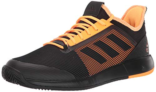 adidas Men's Defiant Bounce 2 M Tennis Shoe, core Black/core Black/Flash Orange, 12.5 Standard US Width US