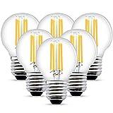 HISAYSY Bombilla LED E27 6W G45 Bombilla de pelota de golf LED 470Lm 40W Reemplazo Blanco Cálido 2700K (6 Paquetes) [Clase energética A++] (6)