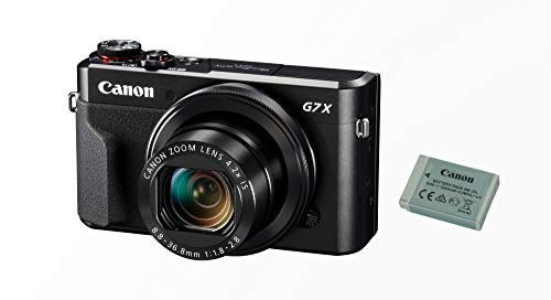 Canon PowerShot G7 X Mark II Digitalkamera Battery Kit (inkl. Ersatzakku, klappbares 7,5cm Display, 20,1 Megapixel, 4,2 fach optischer Zoom, Touchscreen, WLAN, Connect App, F1.8-2.8 Objektiv), schwarz