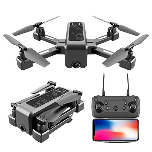 YAHCQ GPS Drohne Mit Kamera 4K HD, Haltbar RC Quadrocopter Mit WiFi FPV Live Übertragung, Smart Follow, Gestenfoto, Schwerkraftsensor, Höhenhaltung, Headless Modus, Für Anfänger