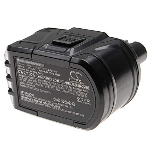 vhbw Batería compatible con Ryobi CNS-180L, CP-180M, CPD-1800, CPL-180M, CRA-180M, CRH1801, CRO-180M herramientas eléctricas (9000mAh Li-Ion 18V)