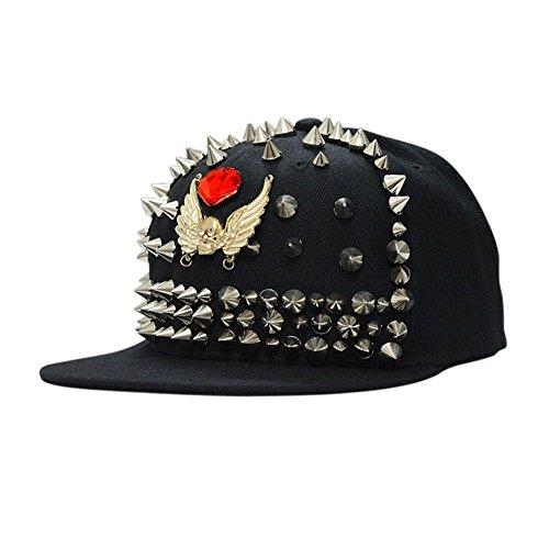 Corduroy Fashion Casquette de baseball ajustable Chapeau chaud d'hiver avec boule de peluche, noir