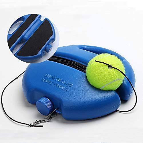 QYWJ Baseboard da Tennis, Palla Rimbalzo per Allenatore di Tennis da solista con Base Antiscivolo e Corda Elastica da 4 m, Attrezzatura da Tennis per Principianti