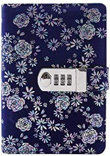 My Password Book - A6 Binder Journal with Combination Lock Travel Diary Notebook Snap Fastener Diary Book TPN105