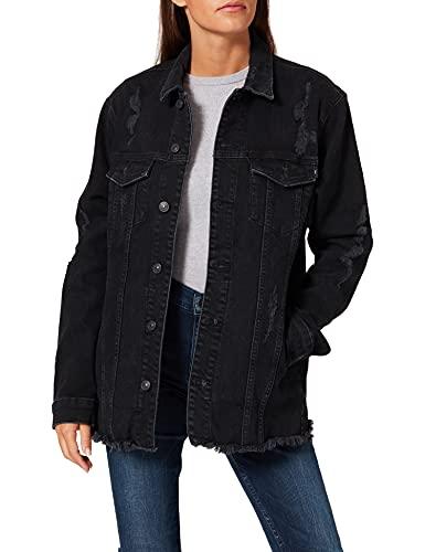 LTB Jeans Deloris Chaqueta de Jean, Negro Leana Wash 51793, XS para Mujer