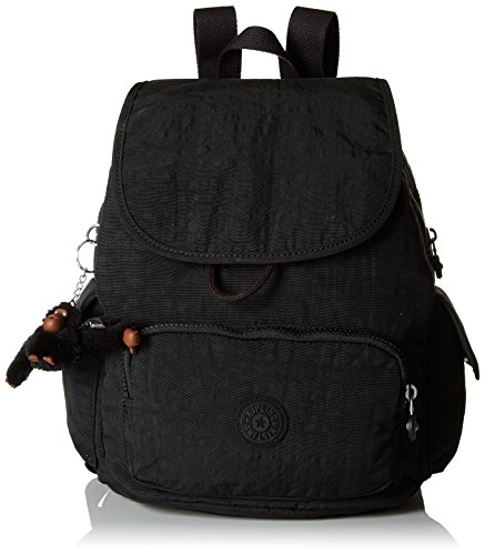Kipling Damen CITY PACK S Rucksack, Schwarz (True Black), 27x33.5x19 cm