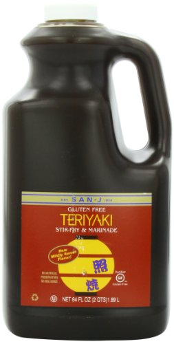 San-J Sauce, Teriyaki Gluten Free, 64 Ounce