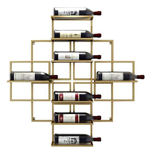 ZXF- Rack De Vino Minimalista Moderno Montado En La Pared Rack De Vino Colgante Creativo Rack De Vino De La Pared