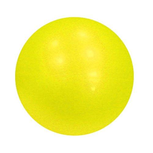 Yoga Direct Balle de pilates lestée (jaune, 9,6 x 0,6 cm)