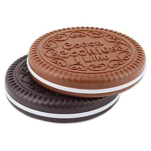 AIUIN Miroir de Poche En Forme De Biscuits Chocolat