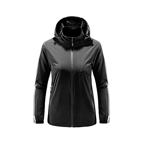 iMixCity Chaqueta cortavientos con capucha para mujeres y hombres Abrigo impermeable unisex...
