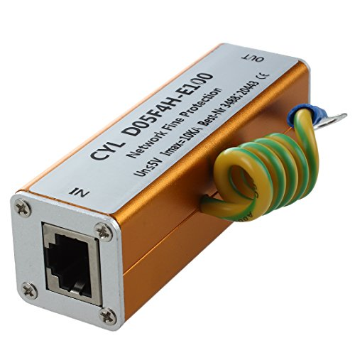 SODIAL(R) Ethernet LAN RJ-45 RJ45 ueberspannungsschutz Neue Elektronik