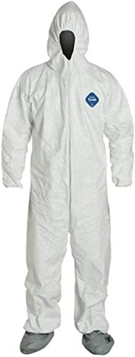DuPont Industrial & Scientific TY122S - 2XL TY122S EACH 2XL Disposable Elastic Wrist, Bootie and Hood Tyvek Coverall ...