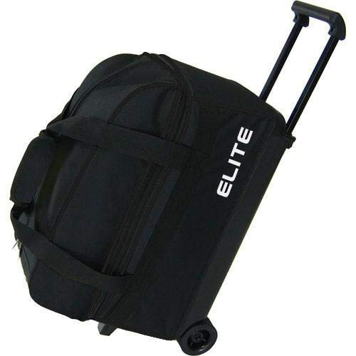 Elite 2 Ball Rolling Bowling Bag - Black