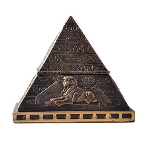 Garneck Ägyptische Pyramide Figur Schmuckschatulle Ohrringe Ringe Aufbewahrungskoffer Gebäude Statue Prisma Schreibtisch Ornament für Souvenir Geschenk