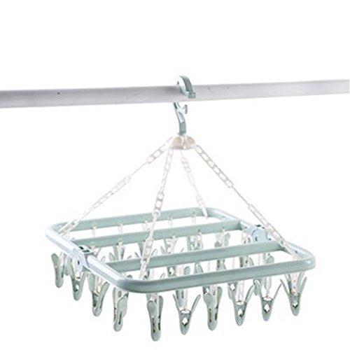 Maifa 32 pinzas de plástico para secar, secado plegable,...