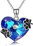 Collar,Collar De Plata De Ley 925 con Estampado De Pata De Perro Collar De Cadena De Clavícula Salvaje Femenina Accesorios Simples 45 Cm Me Encanta Su Mejor Regalo
