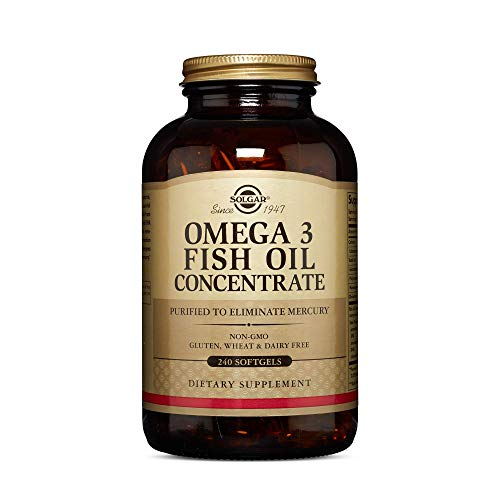 Solgar Omega3 Fish Oil Concentrate 240 Softgels  Support for Cardiovascular Joint amp Brain Health  Contains EPA amp DHA Omega 3 Fatty Acids  Non GMO Gluten Free Dairy Free  120 Servings