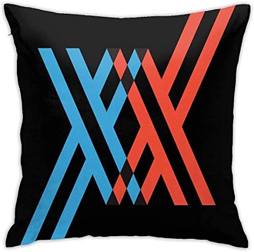 SHAA Dear Frank Zero Two 02 - Funda de almohada cuadrada suave para decoración del hogar, sofá, cama y sofá de granja, 45 cm x 45 cm en ambos lados