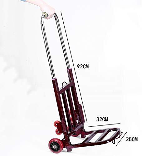 Einkaufstrolleys Fahrgestell Treppenwagen Wagenwagen Kleinwagen Haushaltsanhänger Faltwagen (Farbe : E)