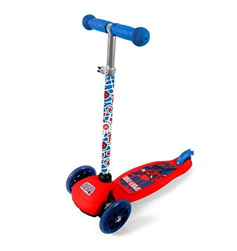 Goldkids Spider-Man Kinderroller Kinder Dreirad Roller ABEC 7, PU-Räder Tretroller Kickscooter Scooter Dreiradroller Kinderscooter ab 2 Jahre klappbar