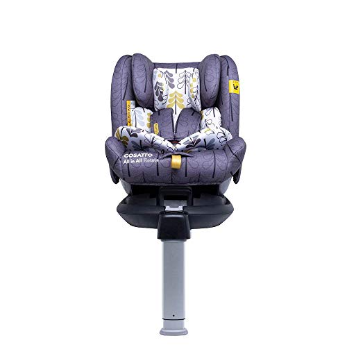 Cosatto All in All Rotate Baby to Child Car Seat - Group 0+123, 0-36 kg, 0-12years, ISOFIX, Extended Rear Facing, Anti-Escape, Easy Access (Fika Forest)