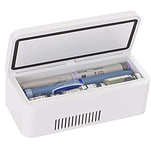 GUONING-L 170x45x24mm 8HORAS insulina Caja refrigerada 2-8  termostato Drogas chaquetón portátil Refrigeradores caja del coche enfriador o del hogar del recorrido del coche Bajo 25  medio ambiente d