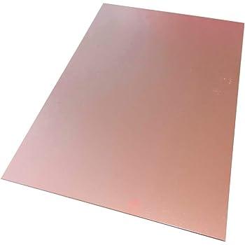 AERZETIX Placa Hojas de Cobre para Circuito Impreso 297//210//0.8mm 18/µm Resina epoxi de Fibra de Vidrio C40576