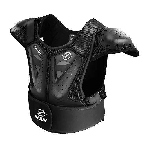 Samger Kinder Körperschutz Brust Rücken Wirbelsäule Protector Weste 5-18 Jahre Alt für Skifahren Reiten Motocross (M)