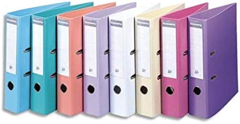 Exacompta Aktenordner, 70 mm, Rückenteil aus PVC-Kunststoff, Pastellfarben, 10 Stück Stück Stück B07H6N6P1B | Professionelles Design  086056
