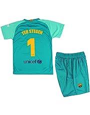 FCB Conjunto Camiseta y Pantalón Primera Equipación Infantil TER Stegen del FC Barcelona Producto Oficial Licenciado Temporada 2019-2020 Color Verde (Verde, Talla