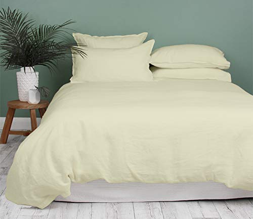 Kotton Culture Premium Duvet Cover 100% Egyptian Cotton 600 Thread Count with Zipper Closure & Corner Ties Luxurious Hotel Collection (Queen/Full, Ivory)